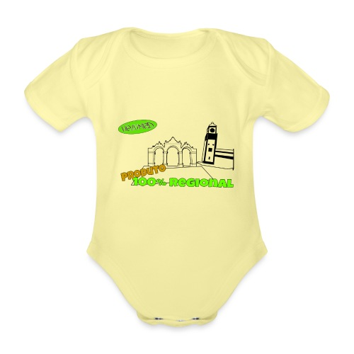 City Gates - Organic Short-sleeved Baby Bodysuit