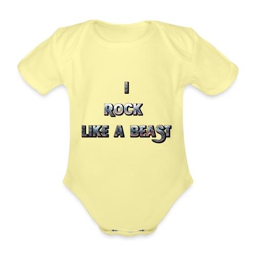 IROCKLIKEABEAST Big png - Ekologisk kortärmad babybody