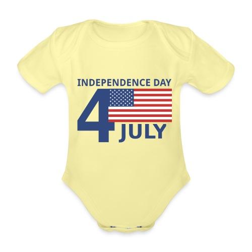 4th of July. 4 luglio - Body ecologico per neonato a manica corta