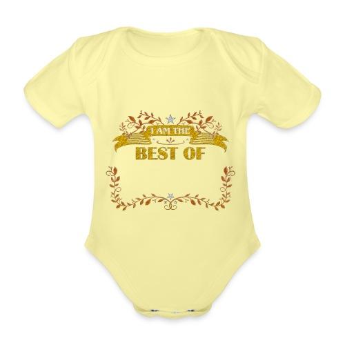Talent Message I AM THE BEST OF Fun 5 - Baby Bio-Kurzarm-Body