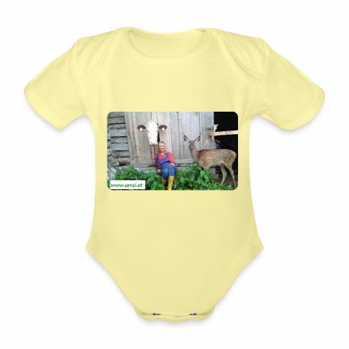 SenSi ♥ Hilfsprojekt für Kühe - Baby Bio-Kurzarm-Body