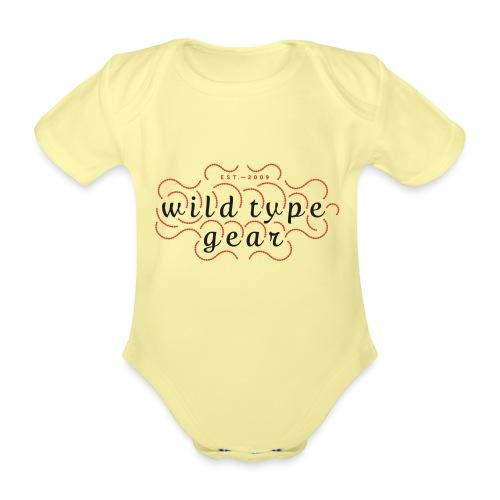 wtg stiched 2 - Organic Short-sleeved Baby Bodysuit