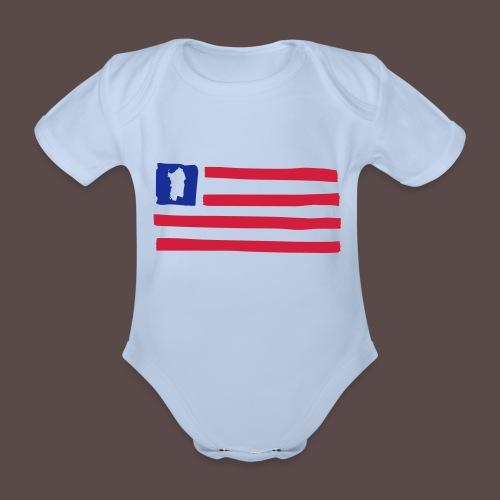 United States of Sardinia - orizzontale - Body ecologico per neonato a manica corta
