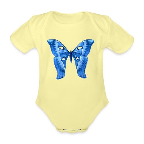 Herkules Falter Blau - Baby Bio-Kurzarm-Body