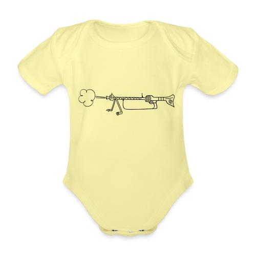 Maschinengewehr 34 - Baby Bio-Kurzarm-Body