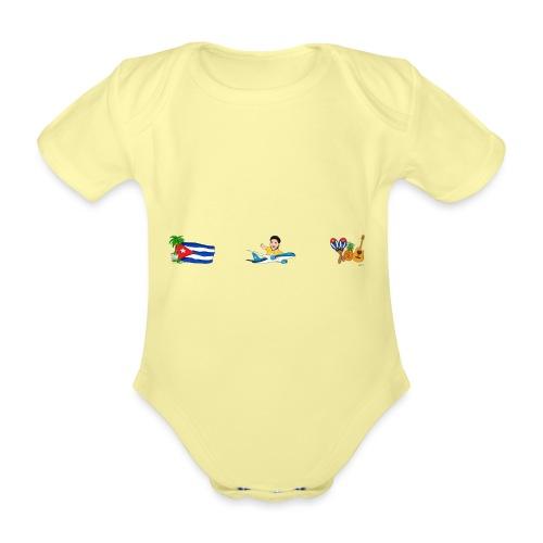 Cuba Premium - Viaja con Yoel - Body orgánico de manga corta para bebé