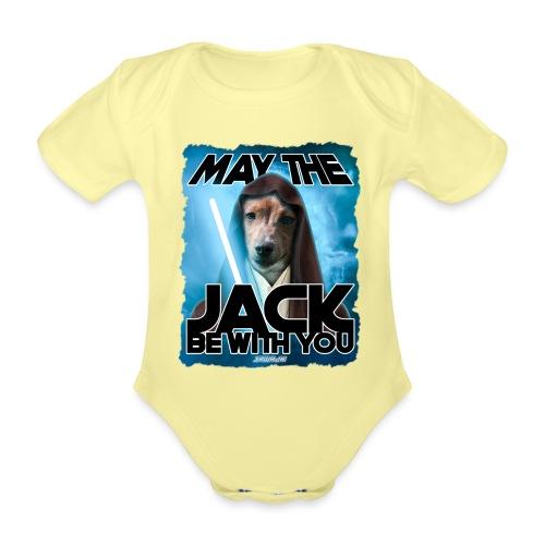 May the Jack be with you - Baby bio-rompertje met korte mouwen