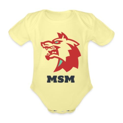 MSM WOLF - Kortærmet babybody, økologisk bomuld