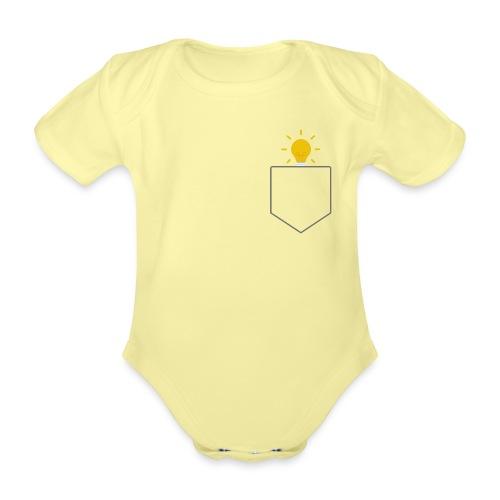 Lomme Lyspære - Kortærmet babybody, økologisk bomuld