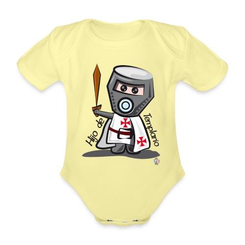 Hijo de templario (Casco) - Body orgánico de manga corta para bebé