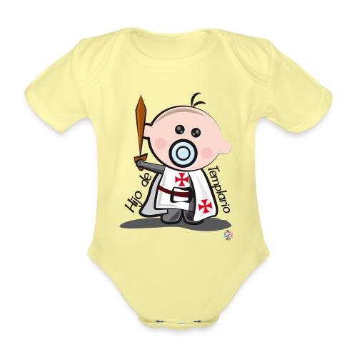 Hijo de templario - Body orgánico de manga corta para bebé