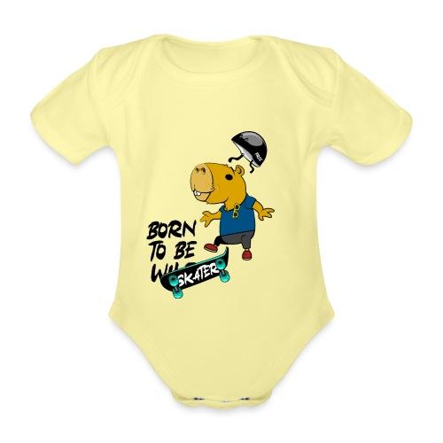 Skater Capybara - Baby Bio-Kurzarm-Body