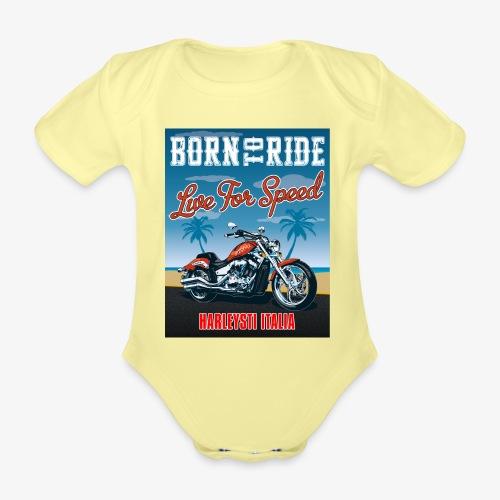 Summer 2021 - Born to ride - Body ecologico per neonato a manica corta