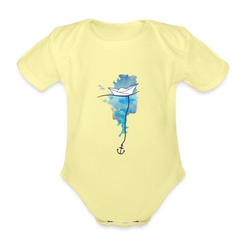 Papierschiff - Baby Bio-Kurzarm-Body
