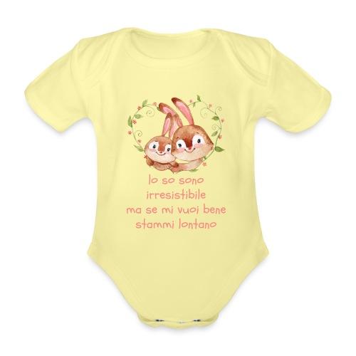 lo so sono bello - Body ecologico per neonato a manica corta
