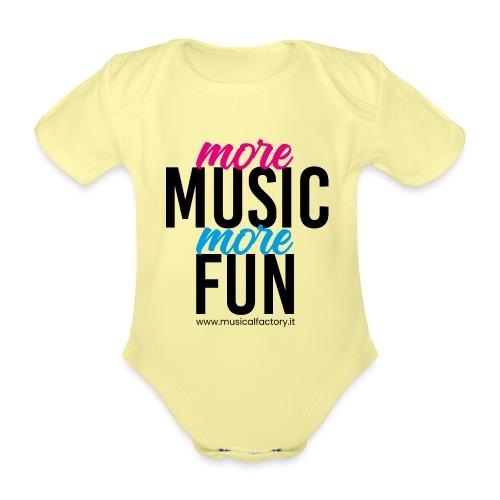 More Music More Fun - Body ecologico per neonato a manica corta