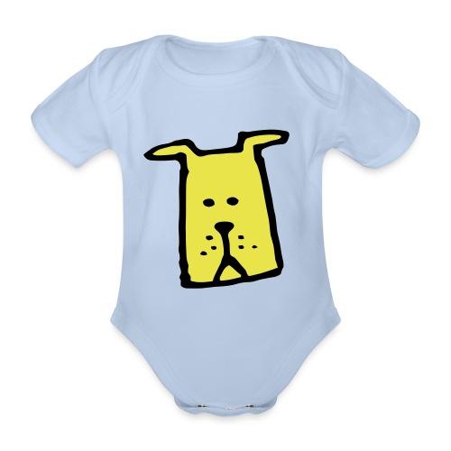 süßer Hund - Design - Geschenk für Kinder - Comic - Baby Bio-Kurzarm-Body
