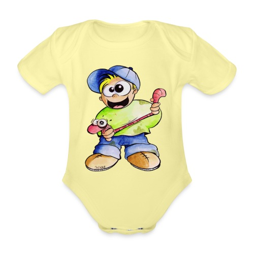 Elastizitätstest - Baby Bio-Kurzarm-Body
