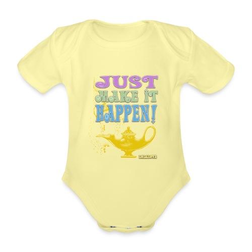 JUST make it happen! - Baby Bio-Kurzarm-Body