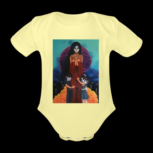 los fieles difuntos - Organic Short-sleeved Baby Bodysuit