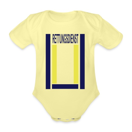 Rettungsdienst Junior Shirt - Baby Bio-Kurzarm-Body