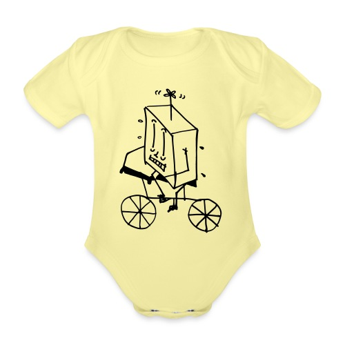 bike thing - Organic Short-sleeved Baby Bodysuit