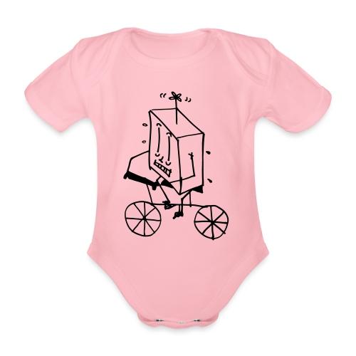 bike thing - Organic Short-sleeved Baby Bodysuit