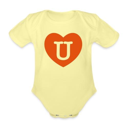 LOVE- U Heart - Organic Short-sleeved Baby Bodysuit