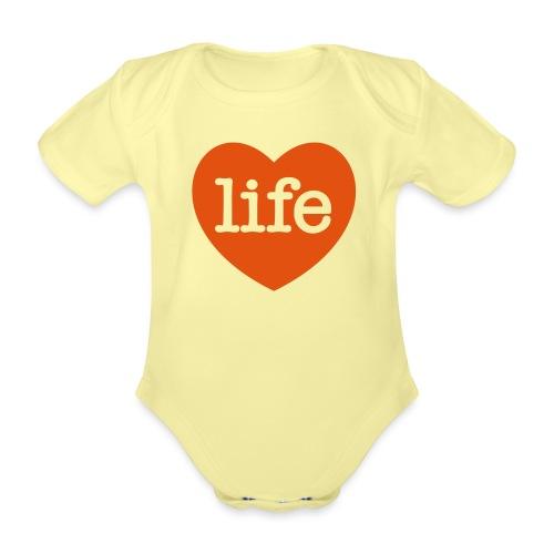 LOVE LIFE heart - Organic Short-sleeved Baby Bodysuit