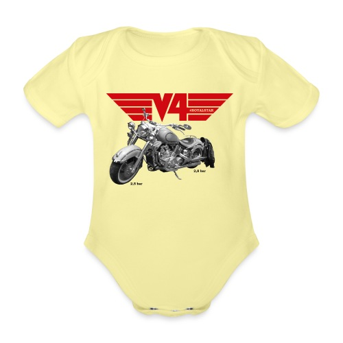 V4 Motorcycles red Wings - Baby Bio-Kurzarm-Body
