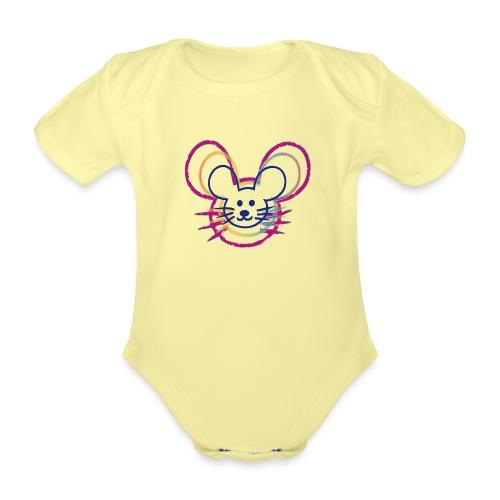 kleines Mausgesicht/Mäuse - Baby Bio-Kurzarm-Body