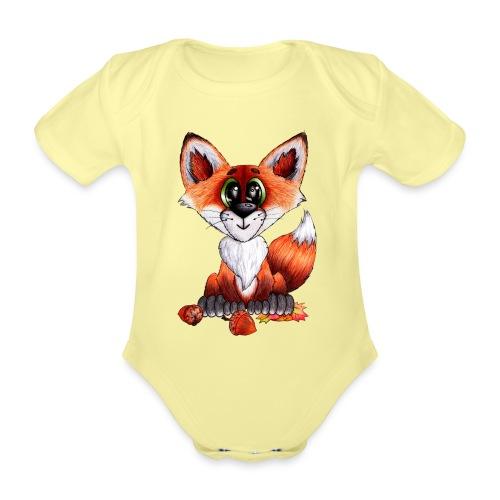 llwynogyn - a little red fox - Baby Bio-Kurzarm-Body