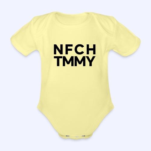 Einfach Tommy / NFCHTMMY / Black Font - Baby Bio-Kurzarm-Body
