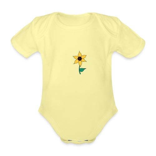 Sunflower - Baby bio-rompertje met korte mouwen