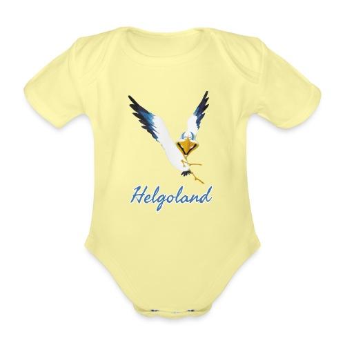 Lachmöwe Helgoland - Baby Bio-Kurzarm-Body