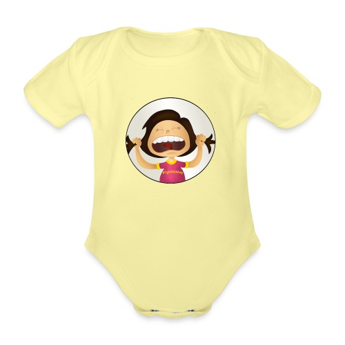Amy's motto (image only) - Organic Short-sleeved Baby Bodysuit