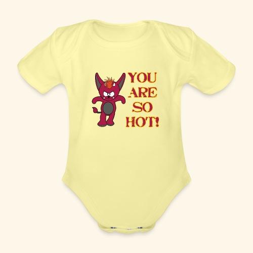 Zwergflammelfe - You are so hot! - Baby Bio-Kurzarm-Body