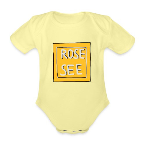 Logo voor druk op textiel - Baby bio-rompertje met korte mouwen