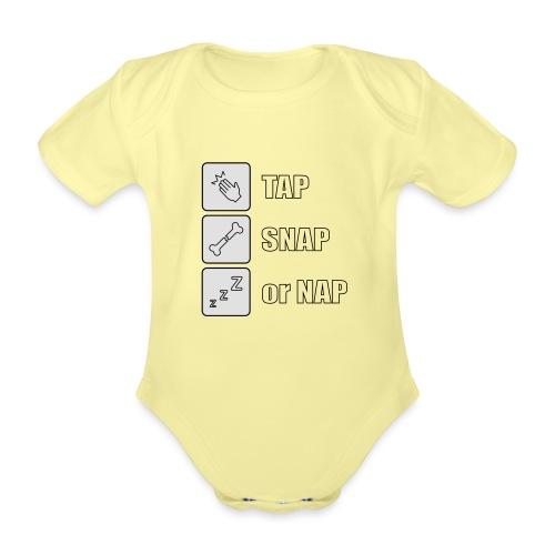tap snap or nap - Ekologiczne body niemowlęce z krótkim rękawem
