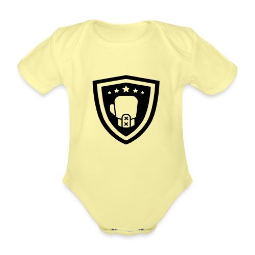 mitch gym schild - Baby bio-rompertje met korte mouwen
