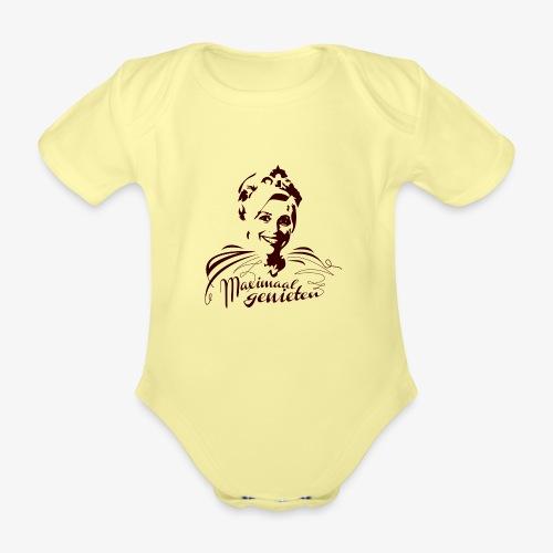 Koninging Maxima - Baby bio-rompertje met korte mouwen
