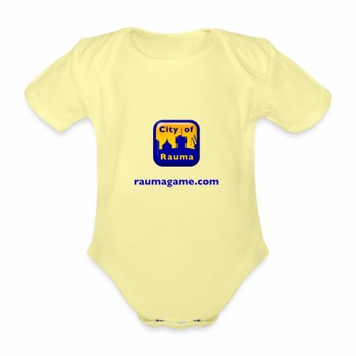 Raumagame logo - Vauvan lyhythihainen luomu-body