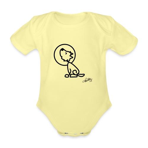 Heulender Wolf - Baby Bio-Kurzarm-Body