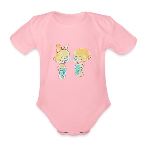 Bambini innamorati - Body ecologico per neonato a manica corta