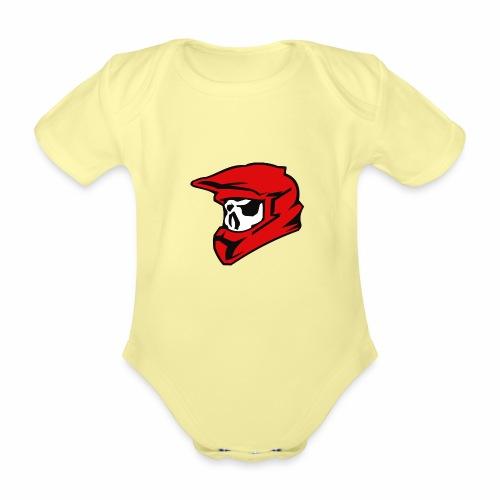 Schaedel Motocross - Baby Bio-Kurzarm-Body