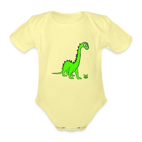 dinosauro - Body ecologico per neonato a manica corta