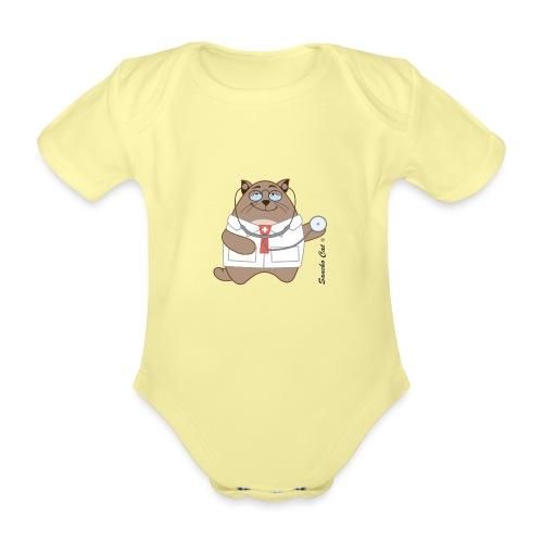 Katzen Arzt - Sancho Cat © - Baby Bio-Kurzarm-Body
