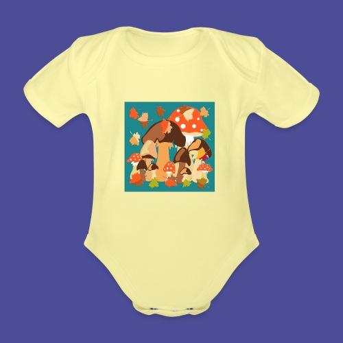 Pilze - Baby Bio-Kurzarm-Body