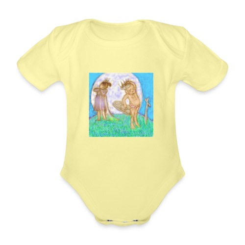 Arthur & Guinevere.. before things got complicated - Organic Short-sleeved Baby Bodysuit
