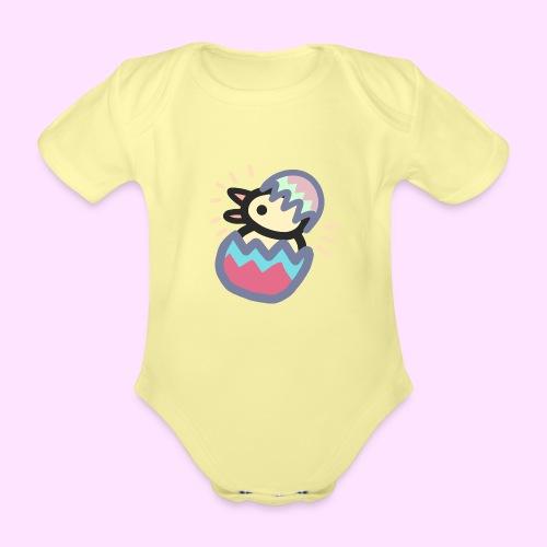 Easter Pinkguin (Yellowguin?) - Kortærmet babybody, økologisk bomuld